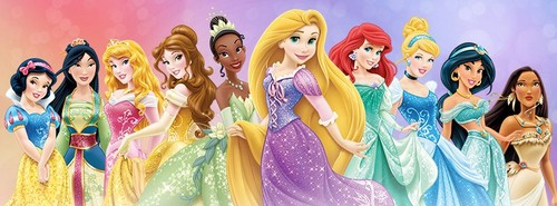 New Disney Princess group picture (Mulan new dress change)