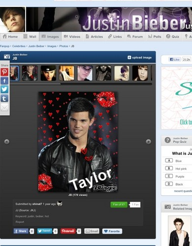 Oh, so Taylor Lautner is relate to Justin Beiber?