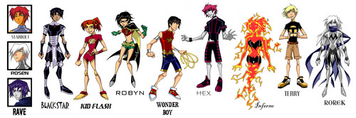 Teen Titans vs. Young Justice Обои titled PROMO_GENDERBENDER