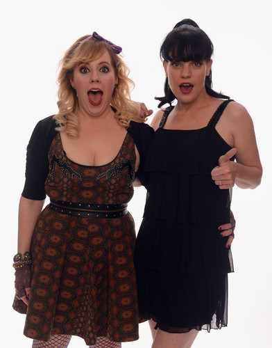 Pauley Perrette & Kirsten Vangsness pose for a portrait in the TV Guide Portrait Studio