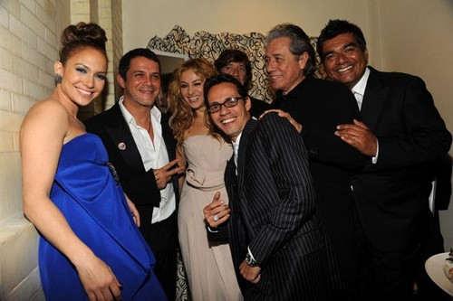 Paulina Rubio, Alejandro Sanz, George Lopez, Edward James Olmos, Jennifer Lopez, Marc Anthony 2009