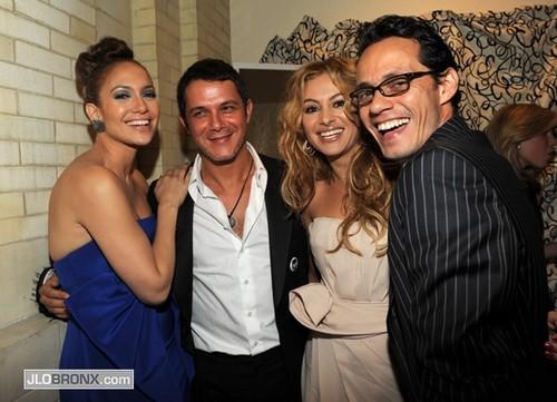Paulina Rubio, Alejandro Sanz, Jennifer Lopez, Marc Anthony 2009