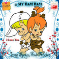 Pebbles n Bam Bam Straw - the-flintstones fan art