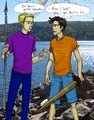 Percy & Jason - the-heroes-of-olympus fan art
