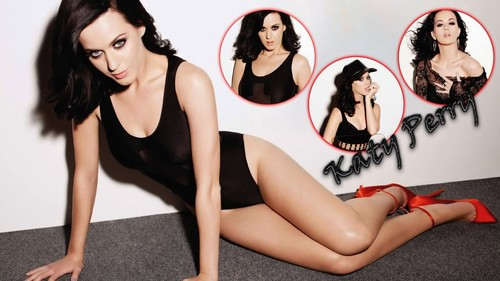 Katy Perry kertas dinding probably with a leotard, tights, and a maillot titled Perry
