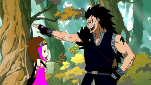 Pink(my OC) and Gajeel