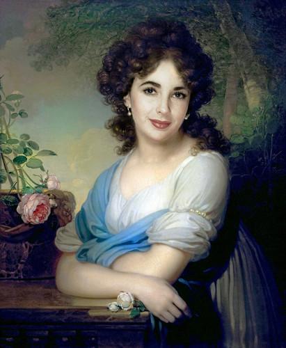 Elizabeth Taylor karatasi la kupamba ukuta titled Portrait of Elena Alexandrovna Naryshkina (1799)