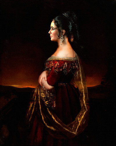 Portrait of a Lady with Pearls, circa 1830-1840