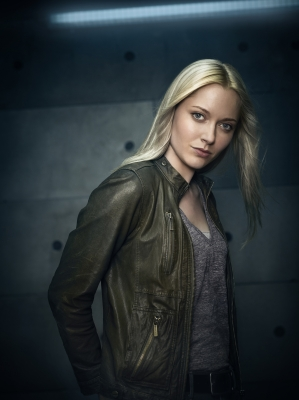 Georgina Haig achtergrond with an overgarment and an outerwear entitled Promotional Photos: Season Five