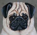 Pug Carving Art