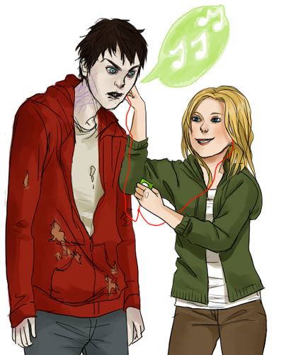 Warm Bodies Movie hình nền with anime entitled R and Julie