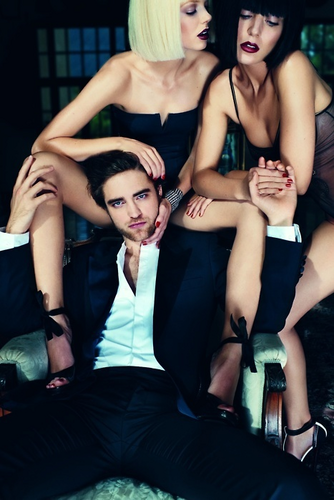 Robert between thighs of a girl!