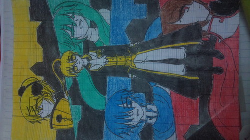 Rin und Len Kagamine Hintergrund containing Anime called Servant of evil _ Tragedy of Yellow