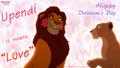 the-lion-king - Simba Nala rose romantic valentine Love wallpaper