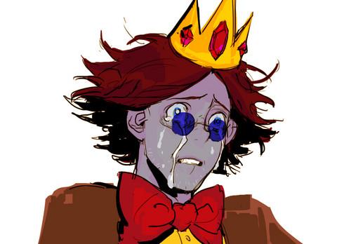 Simon wearing the Crown