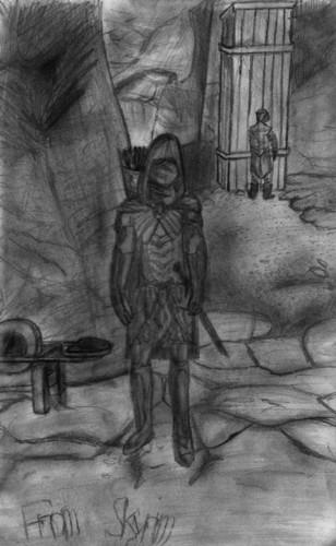 Elder Scrolls V : Skyrim wallpaper possibly with a sign, verdigris, and a street entitled Skyrim - Dark Brotherhood Sanctuary