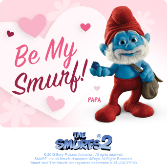 Smurfs 2 Valentine's Day E-Cards