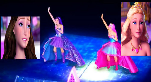 Barbie the Princess and the popstar wallpaper possibly with a concert entitled Some fanarts