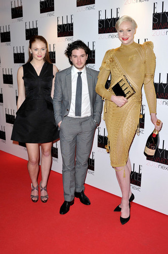 Sophie Turner, Gwendoline Christie and Kit Harington @ Elle Style Awards