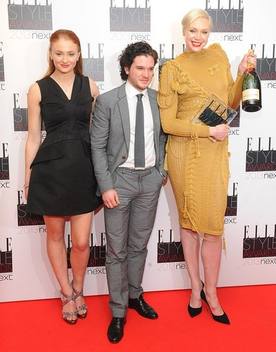 Sophie Turner, Kit Harington,Gwendoline Christie @Elle Style Awards