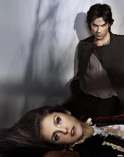Vampire Diaries karatasi la kupamba ukuta probably with a sign entitled TVD Season 4 Promo