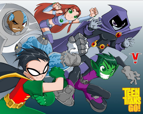 Teen Titans vs. Young Justice hình nền with anime titled Teen Titans