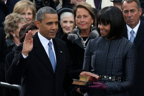 The Swearing In Of Presidential Re-Elect, Barrack Obama