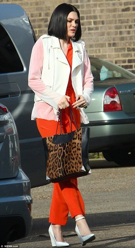 The Voice rehearsals: Jessie J arriving at London studios, 18 Feb 2013