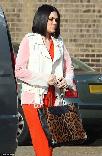 The Voice rehearsals: Jessie J arriving at লন্ডন studios, 18 Feb 2013
