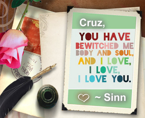 DarkCruz360 wallpaper probably with a sign titled Valentine Luv xoxox