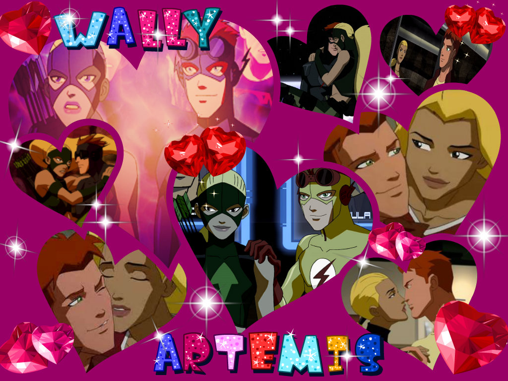 Justice Wally and Artemis  Young Justice Artemis And Wally