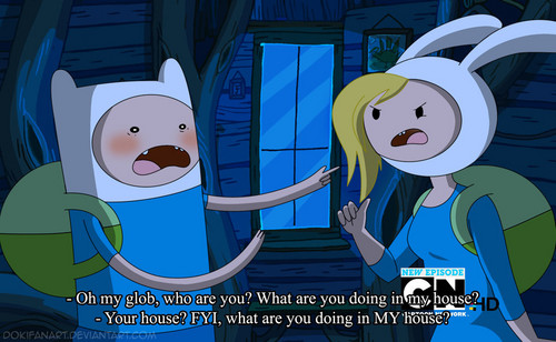 Adventure Time With Finn and Jake wallpaper probably with anime titled When Finn meets Fionna