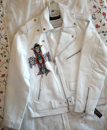 White leather куртка