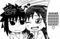 chibi Sasuke and Karin