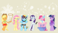 chibi mlp - my-little-pony-friendship-is-magic wallpaper