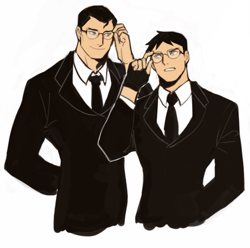Young Justice Hintergrund possibly with a business suit and a well dressed person called clark and conner kent