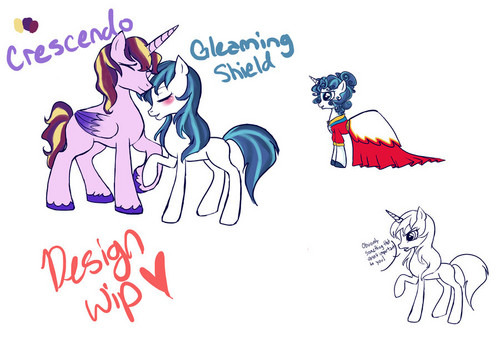 crescendo and gleaming shield