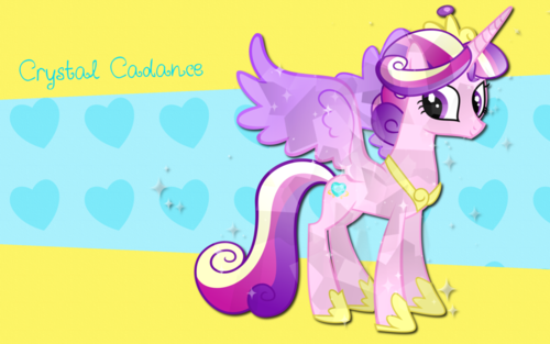 My Little Pony Friendship is Magic wallpaper with anime titled crystal cadance