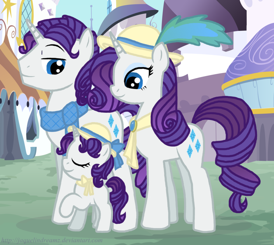 My little pony rarity family
