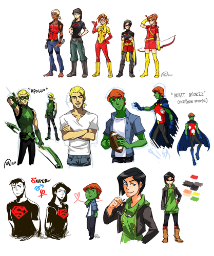 Young Justice wallpaper entitled genderbender