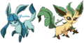glaceon and leafeon - eevee-evolutions-clan photo