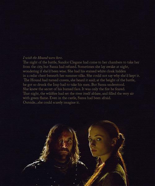 Sandor Clegane & Sansa Stark - Game of Thrones Fan Art ...