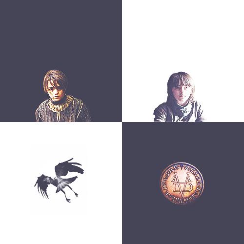 Bran & Arya Stark