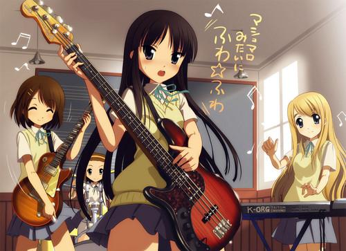 गिटार ऐनीमे girl