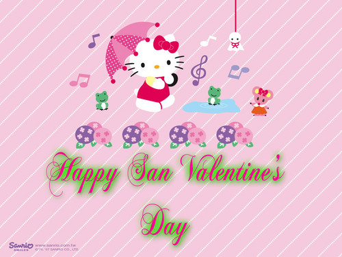 hello kitty san valentine دن
