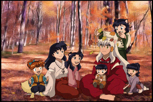Inuyasha wallpaper with anime called inuyasha's family