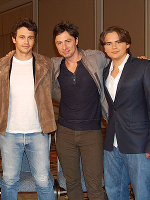 james franco, zach braff and michael jackson's son prince jackson on ETonline 18th feburary 2013