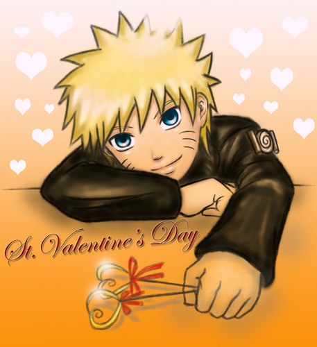 Fairy Tail vs. Naruto wallpaper probably with anime called naruto valentines day! <3
