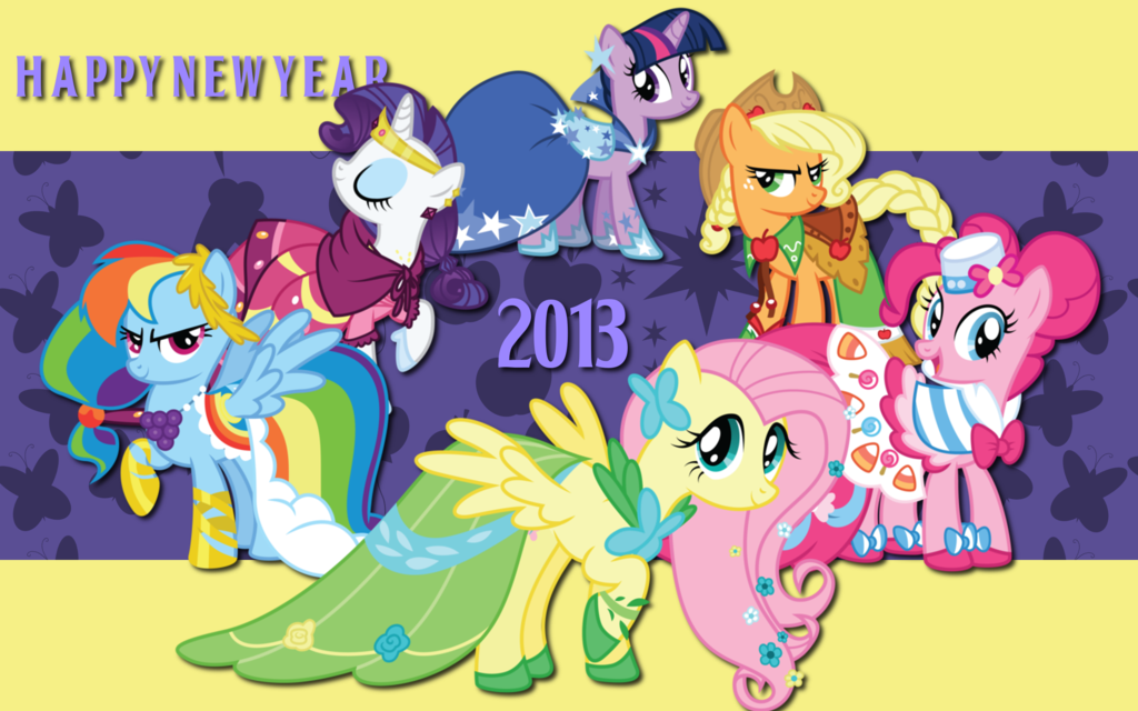 my little pony friendship is magic images new year hd wallpaper and background photos
