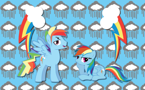 My Little Pony Friendship is Magic wallpaper with anime called rainbow blitz and dash